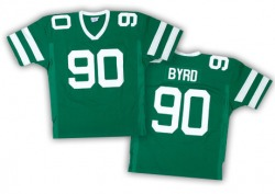 Authentic Men's Dennis Byrd New York Jets Mitchell and Ness Team Color Throwback Jersey - Green