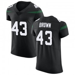 Elite Men's Alex Brown New York Jets Nike Vapor Untouchable Jersey - Stealth Black
