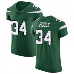 Elite Men's Brian Poole New York Jets Nike Vapor Untouchable Jersey - Gotham Green