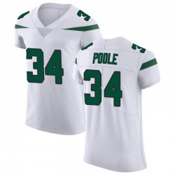 Elite Men's Brian Poole New York Jets Nike Vapor Untouchable Jersey - Spotlight White