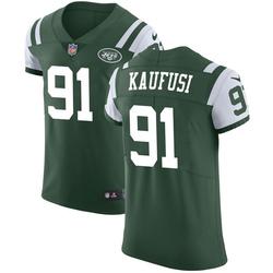 Elite Men's Bronson Kaufusi New York Jets Nike Team Color Vapor Untouchable Jersey - Green