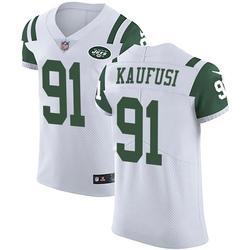 Elite Men's Bronson Kaufusi New York Jets Nike Vapor Untouchable Jersey - White