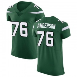 Elite Men's Calvin Anderson New York Jets Nike Vapor Untouchable Jersey - Gotham Green