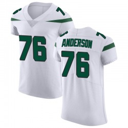 Elite Men's Calvin Anderson New York Jets Nike Vapor Untouchable Jersey - Spotlight White