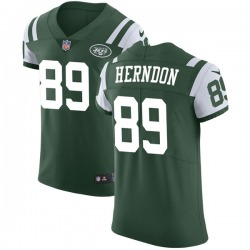 Elite Men's Chris Herndon New York Jets Nike Team Color Vapor Untouchable Jersey - Green