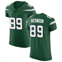 Elite Men's Chris Herndon New York Jets Nike Vapor Untouchable Jersey - Gotham Green