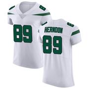 Elite Men's Chris Herndon New York Jets Nike Vapor Untouchable Jersey - Spotlight White