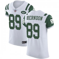 Elite Men's Chris Herndon New York Jets Nike Vapor Untouchable Jersey - White