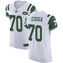 Elite Men's Chuma Edoga New York Jets Nike Vapor Untouchable Jersey - White