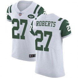 Elite Men's Darryl Roberts New York Jets Nike Vapor Untouchable Jersey - White