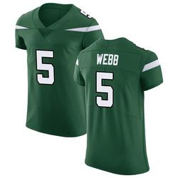 Elite Men's Davis Webb New York Jets Nike Vapor Untouchable Jersey - Gotham Green