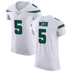 Elite Men's Davis Webb New York Jets Nike Vapor Untouchable Jersey - Spotlight White
