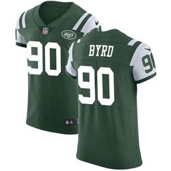Elite Men's Dennis Byrd New York Jets Nike Team Color Vapor Untouchable Jersey - Green