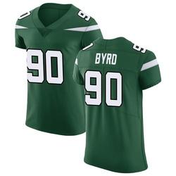 Elite Men's Dennis Byrd New York Jets Nike Vapor Untouchable Jersey - Gotham Green