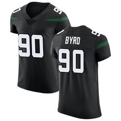 Elite Men's Dennis Byrd New York Jets Nike Vapor Untouchable Jersey - Stealth Black