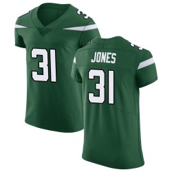 Elite Men's Derrick Jones New York Jets Nike Vapor Untouchable Jersey - Gotham Green