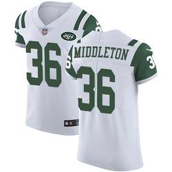 Elite Men's Doug Middleton New York Jets Nike Vapor Untouchable Jersey - White