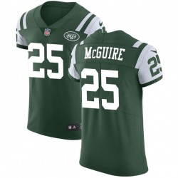 Elite Men's Elijah McGuire New York Jets Nike Team Color Vapor Untouchable Jersey - Green