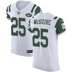 Elite Men's Elijah McGuire New York Jets Nike Vapor Untouchable Jersey - White
