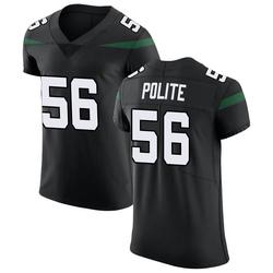 Elite Men's Jachai Polite New York Jets Nike Vapor Untouchable Jersey - Stealth Black
