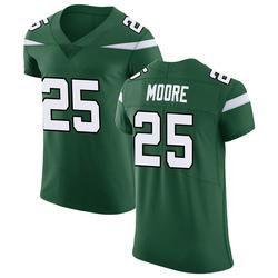 Elite Men's Jalin Moore New York Jets Nike Vapor Untouchable Jersey - Gotham Green