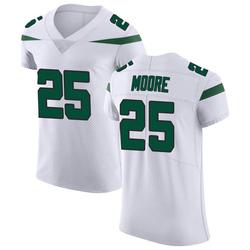 Elite Men's Jalin Moore New York Jets Nike Vapor Untouchable Jersey - Spotlight White