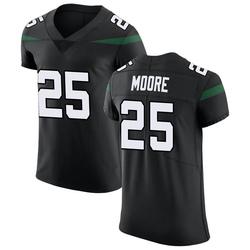 Elite Men's Jalin Moore New York Jets Nike Vapor Untouchable Jersey - Stealth Black