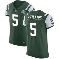 Elite Men's Kyle Phillips New York Jets Nike Team Color Vapor Untouchable Jersey - Green