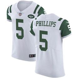 Elite Men's Kyle Phillips New York Jets Nike Vapor Untouchable Jersey - White