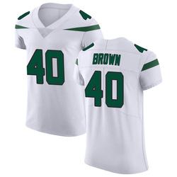 Elite Men's Kyron Brown New York Jets Nike Vapor Untouchable Jersey - Spotlight White
