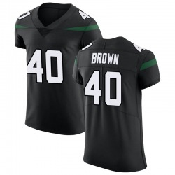 Elite Men's Kyron Brown New York Jets Nike Vapor Untouchable Jersey - Stealth Black