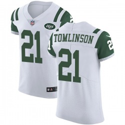 Elite Men's LaDainian Tomlinson New York Jets Nike Vapor Untouchable Jersey - White