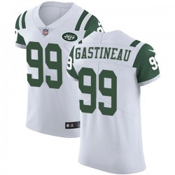 Elite Men's Mark Gastineau New York Jets Nike Vapor Untouchable Jersey - White