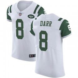 Elite Men's Matt Darr New York Jets Nike Vapor Untouchable Jersey - White