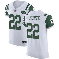 Elite Men's Matt Forte New York Jets Nike Vapor Untouchable Jersey - White