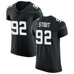 Elite Men's MyQuon Stout New York Jets Nike Vapor Untouchable Jersey - Stealth Black
