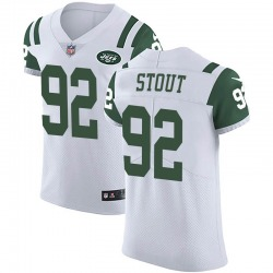 Elite Men's MyQuon Stout New York Jets Nike Vapor Untouchable Jersey - White