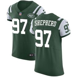 Elite Men's Nathan Shepherd New York Jets Nike Team Color Vapor Untouchable Jersey - Green