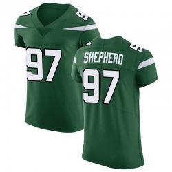 Elite Men's Nathan Shepherd New York Jets Nike Vapor Untouchable Jersey - Gotham Green