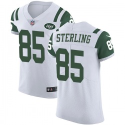 Elite Men's Neal Sterling New York Jets Nike Vapor Untouchable Jersey - White