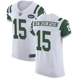 Elite Men's Quadree Henderson New York Jets Nike Vapor Untouchable Jersey - White