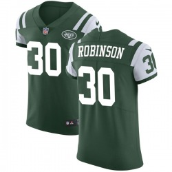 Elite Men's Rashard Robinson New York Jets Nike Team Color Vapor Untouchable Jersey - Green