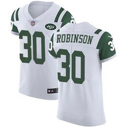 Elite Men's Rashard Robinson New York Jets Nike Vapor Untouchable Jersey - White