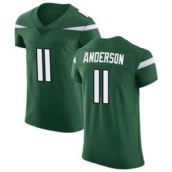 Elite Men's Robby Anderson New York Jets Nike Vapor Untouchable Jersey - Gotham Green