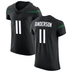 Elite Men's Robby Anderson New York Jets Nike Vapor Untouchable Jersey - Stealth Black