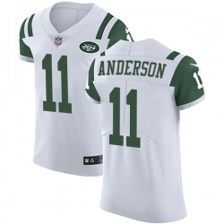 Elite Men's Robby Anderson New York Jets Nike Vapor Untouchable Jersey - White