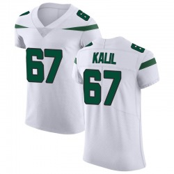 Elite Men's Ryan Kalil New York Jets Nike Vapor Untouchable Jersey - Spotlight White