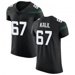 Elite Men's Ryan Kalil New York Jets Nike Vapor Untouchable Jersey - Stealth Black
