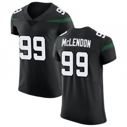 Elite Men's Steve McLendon New York Jets Nike Vapor Untouchable Jersey - Stealth Black