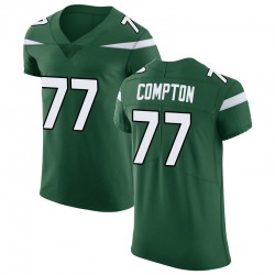 Elite Men's Tom Compton New York Jets Nike Vapor Untouchable Jersey - Gotham Green